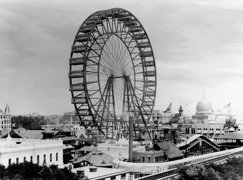 The original Chicago Ferris Wheel, built for the 1893 World's Columbian Exposition