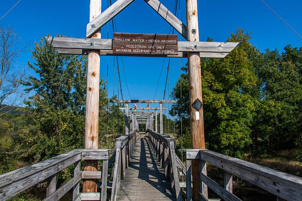 Appalachian Trail suspension bridge near Vernon, NJ