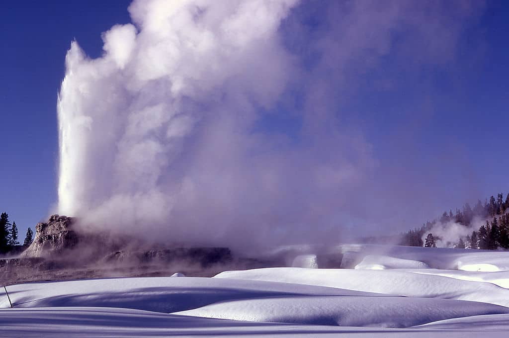 Castle Geyser in Winter, Yellowstone National Park, WY