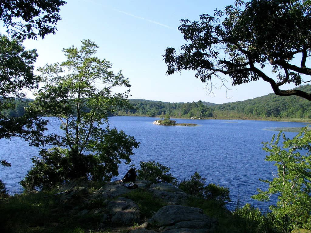 Island Pond in Harriman State Park, NY