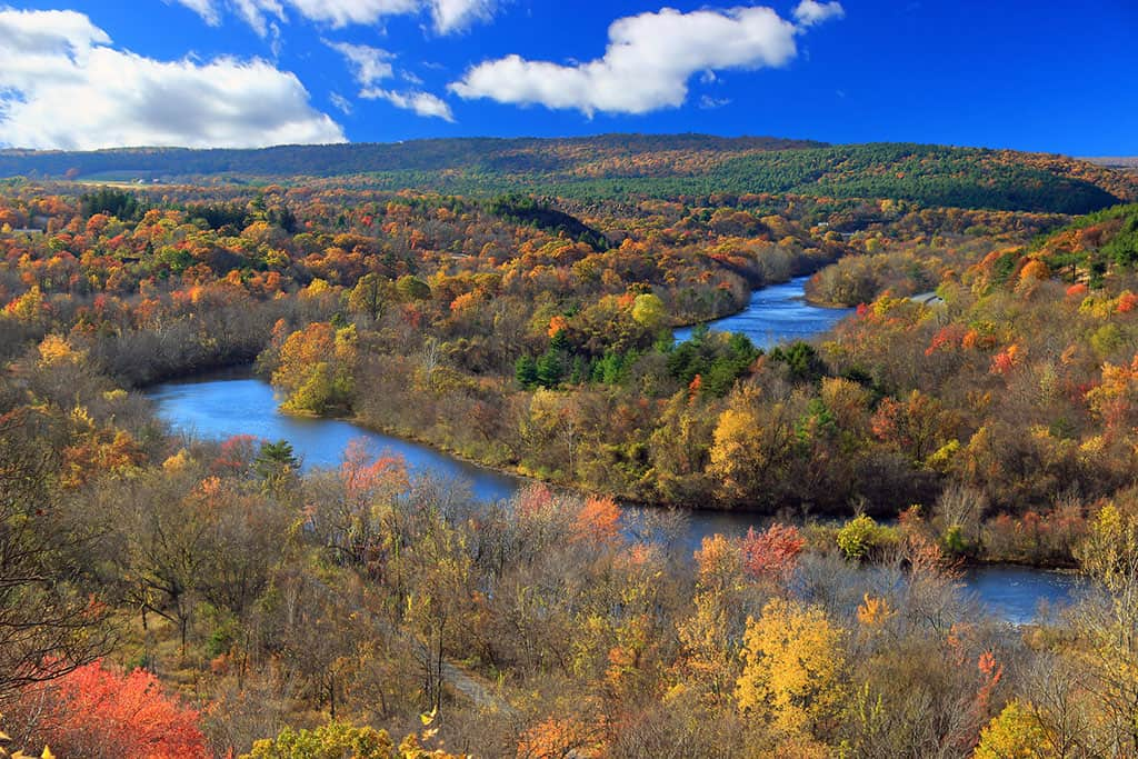 Lehigh River, Carbon County, as seen from the Prairie Grass Trail at the Lehigh Gap Nature Center.