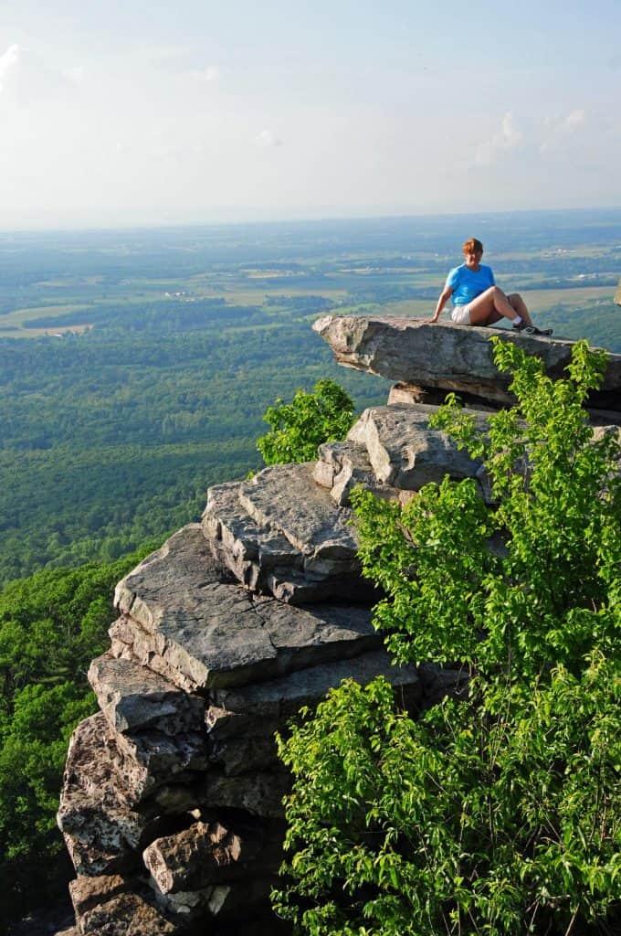 The Appalachian Trail in Maryland on Black Rock cliffs