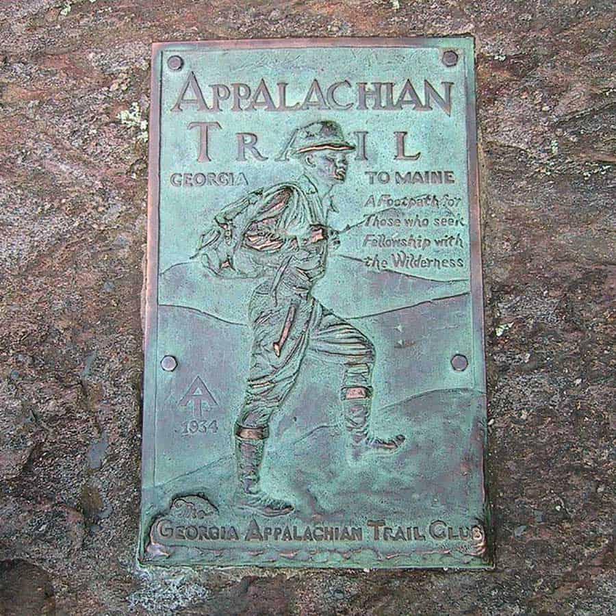 Appalachian Trail Sign in Georgia