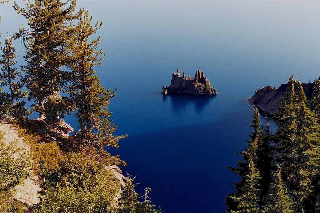Phantom Ship Island in Crater Lake, Oregon