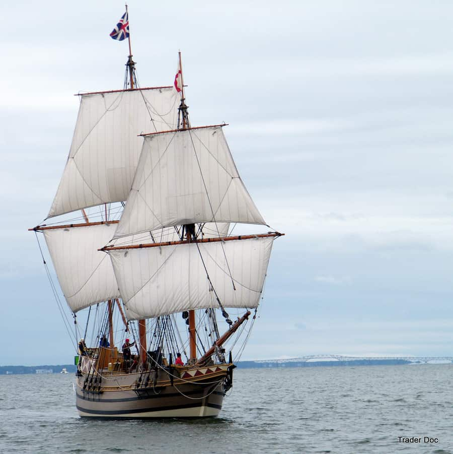 "The Replica ""Godspeed"" from Jamestown, VA"