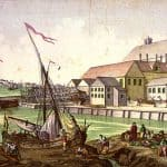Scene along the Salem waterfront, circa 1770–80