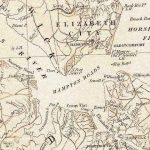 The harbor area of Hampton Roads, from official state map of pre-civil war Virginia circa 1858.