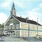 First Weymouth Town Hall. It was built 1852 and destroyed by fire in 1914.