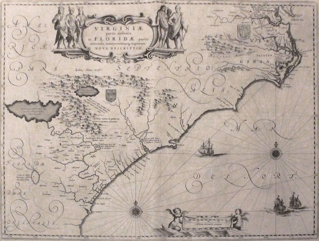 Map Depicting The Colony Of Virginia According To The