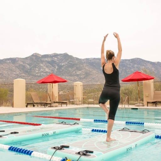Yoga retreat at Miraval Resort & Spa in Tucson, Arizona