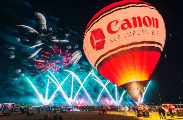 Canon Sponsors many Hot Air Balloon Festivals in the USA