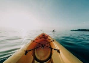 Kayaking on Mekong River, Laos