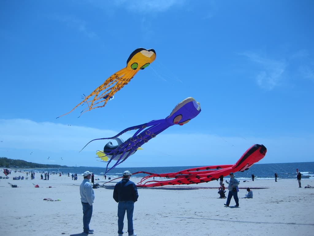 Great Lakes Kite Festival in Grand Haven, Michigan