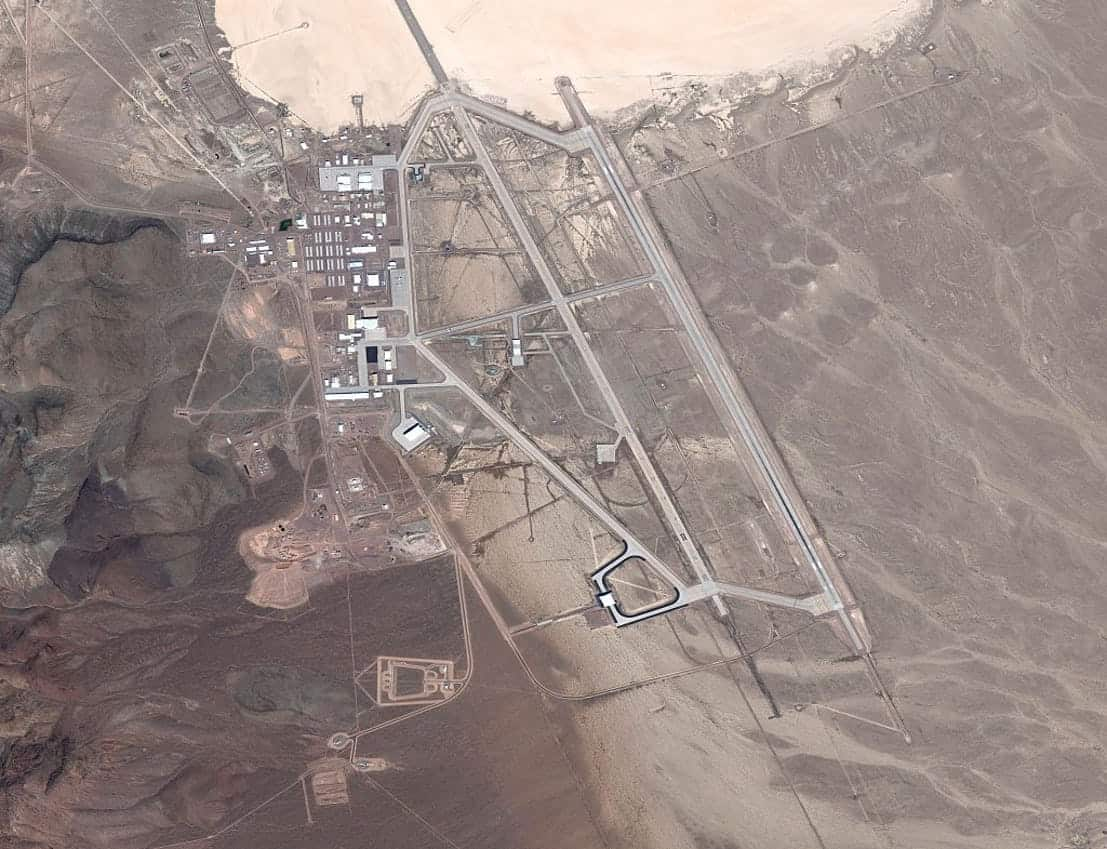 Secret places Area 51 aerial shot Restricted Areas