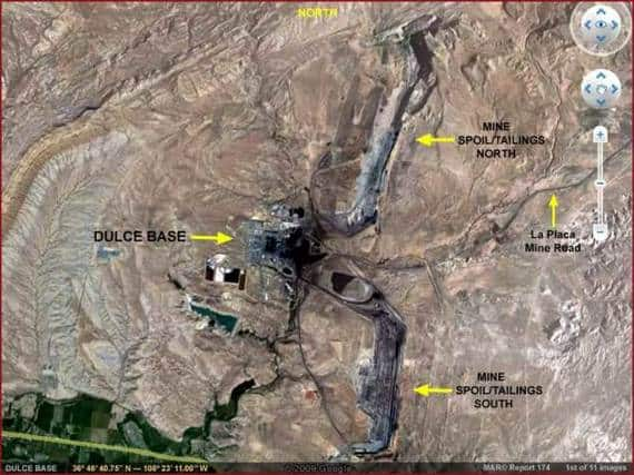 Dulce Base Aerial Shot. Secret places Restricted Areas USA