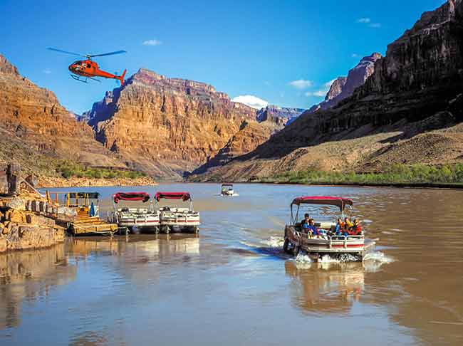 Grand Canyon helicopter & boat tour