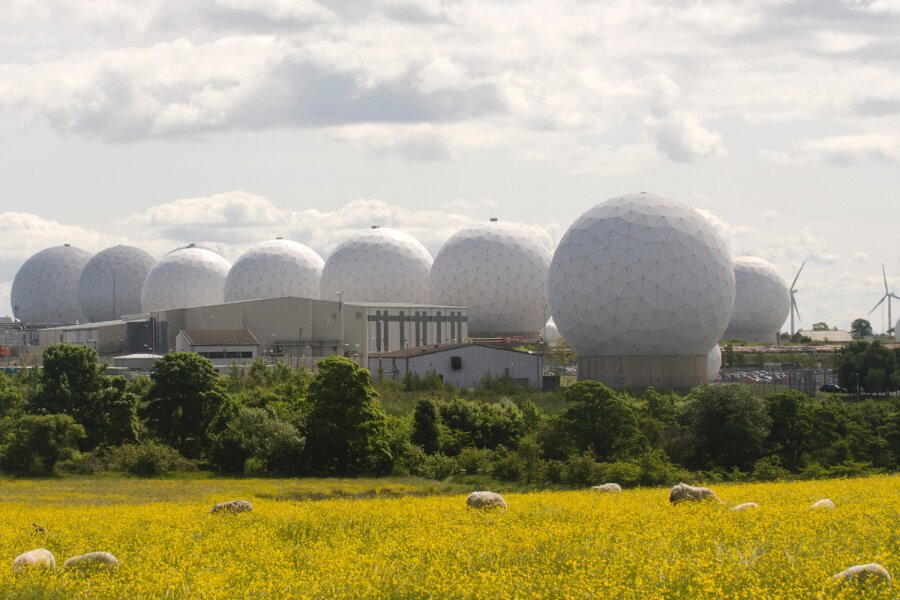 secretive base Menwith Hill Domes