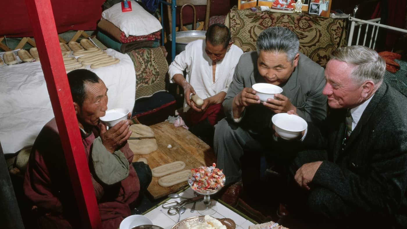 Mongols Drinking Horse milk with Supreme court judge