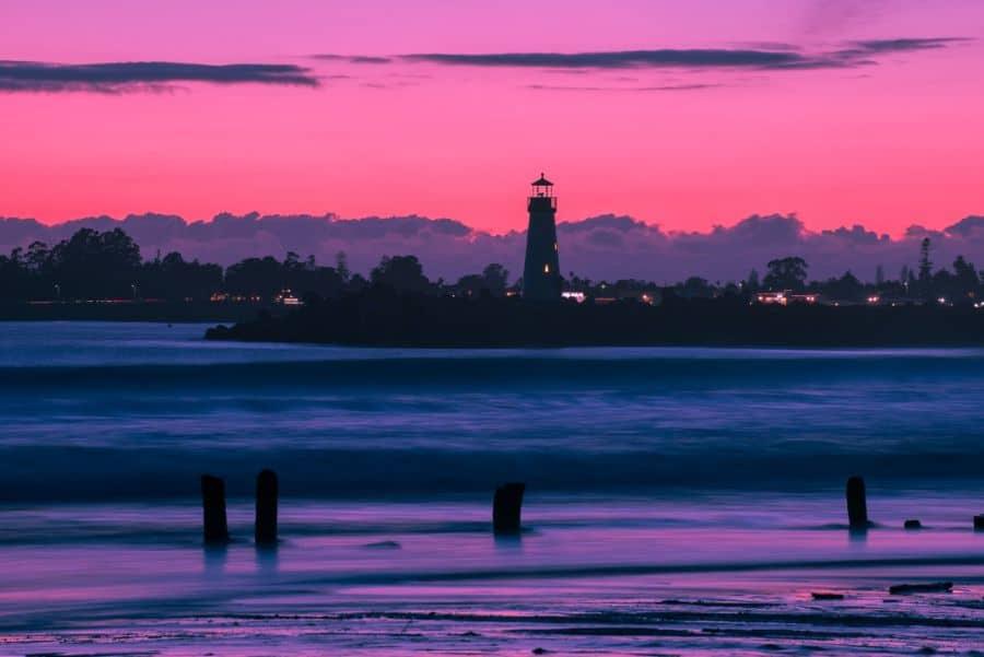 Monterey Pink Sky, California.