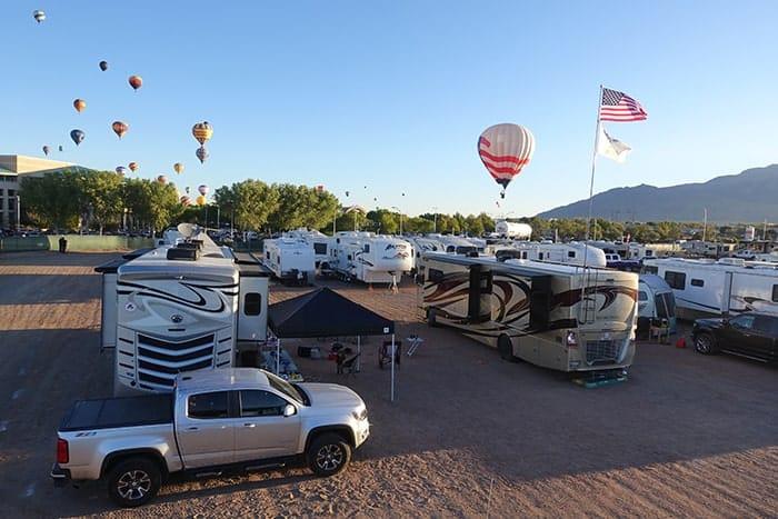 Rv lot at Albuquerque Balloon Fiesta