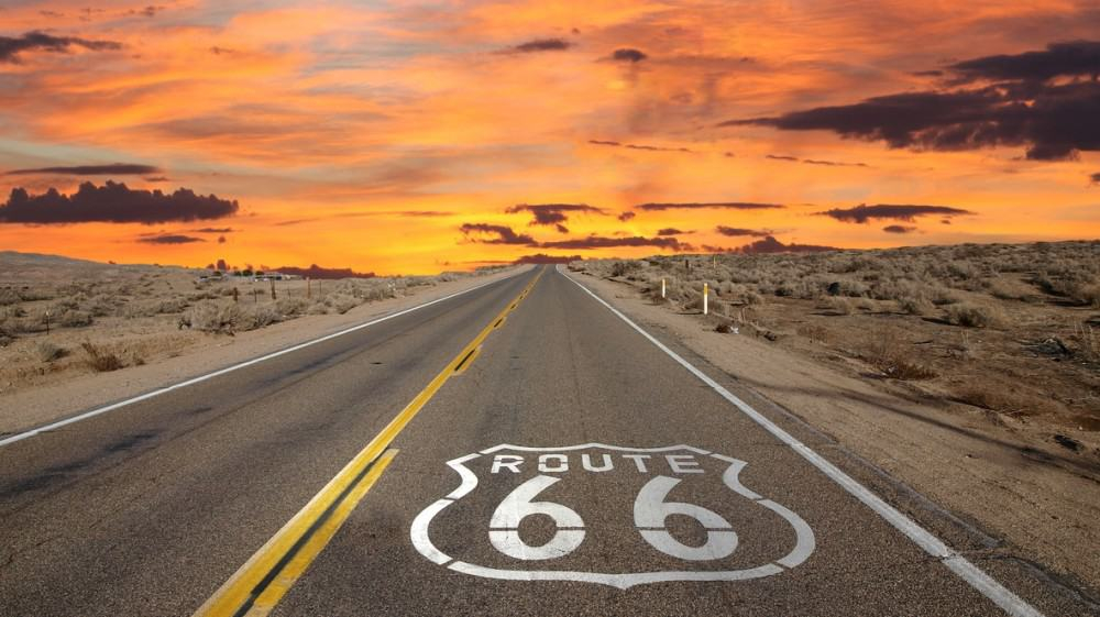Route 66, best U.S Driving roads and Motorcycle road trip routes.
