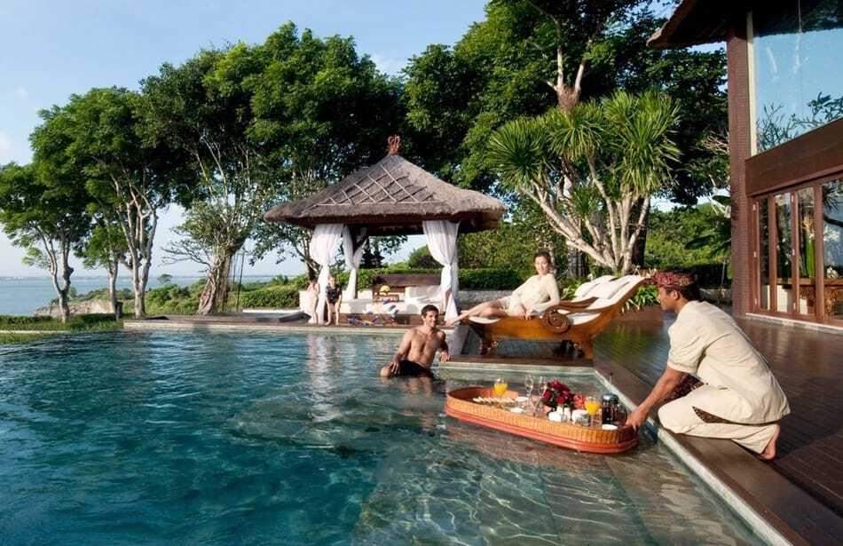 Floating Breakfast at Ayana Resort Bali
