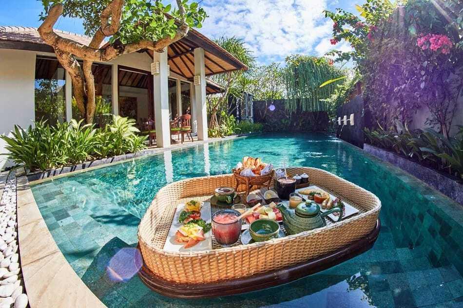 Floating Breakfast at Royal Purnama Villa Bali
