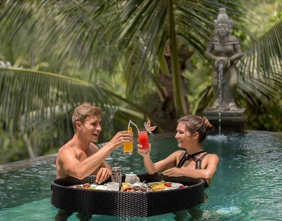 Floating Breakfast at Kanyon Resort Bali