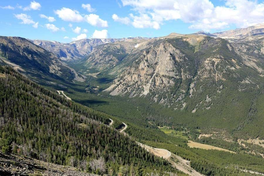 Rock Creek Canyon in the Beartooth Mountains of the Custer National Forest in Montana, Best U.S Driving roads, Road trip Ideas.