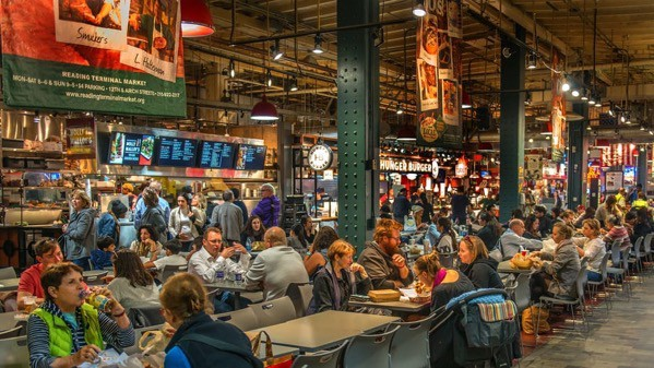 Reading Terminal Market and Food Hall, Philadelphia, U.S.A