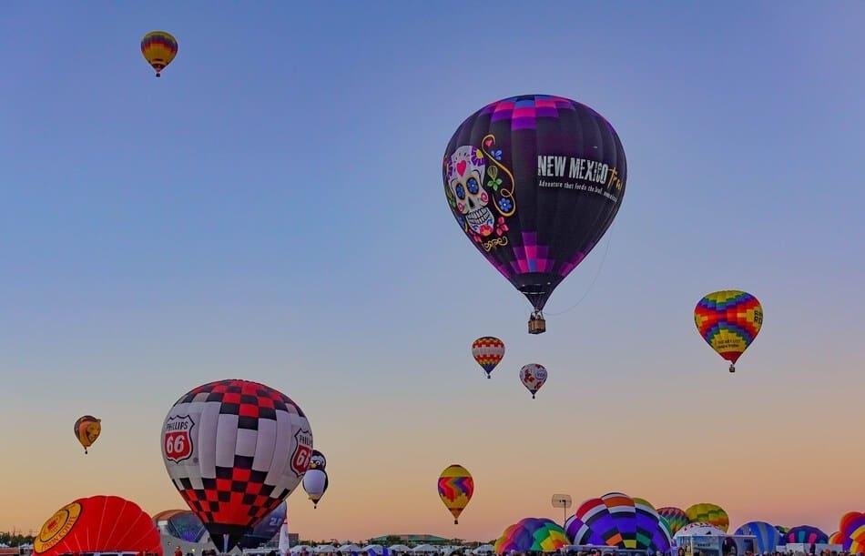 Morning Patrol at Albuquerque Hot Air Balloon Festival.