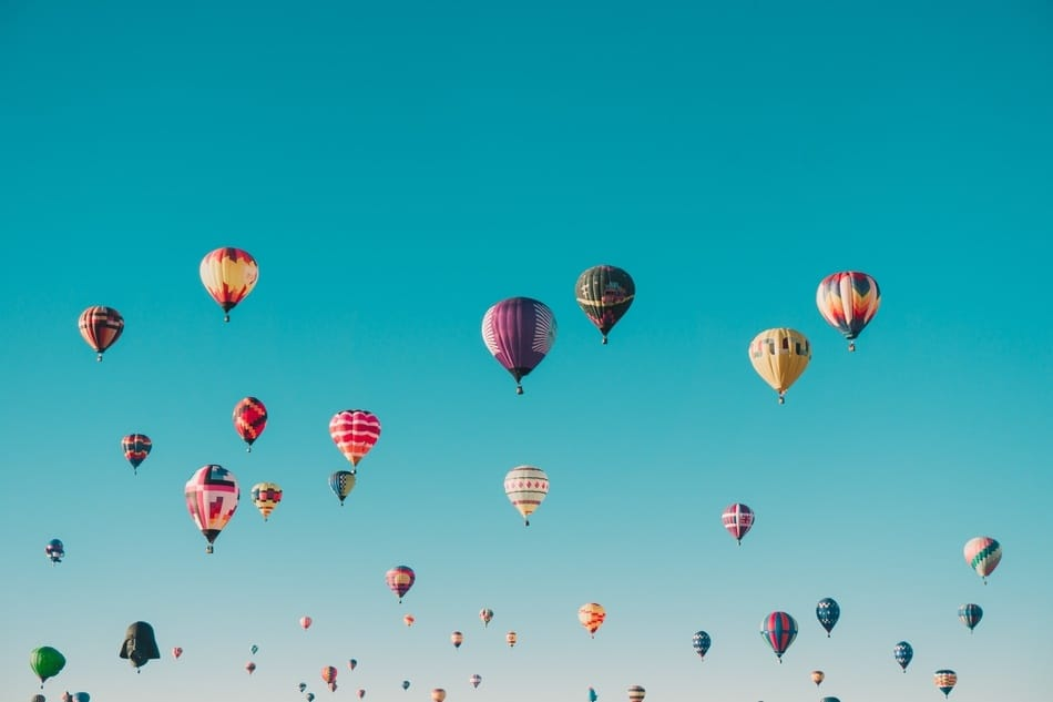 Mass Ascension at Albuquerque Balloon Festival, New Mexico, U.S.A