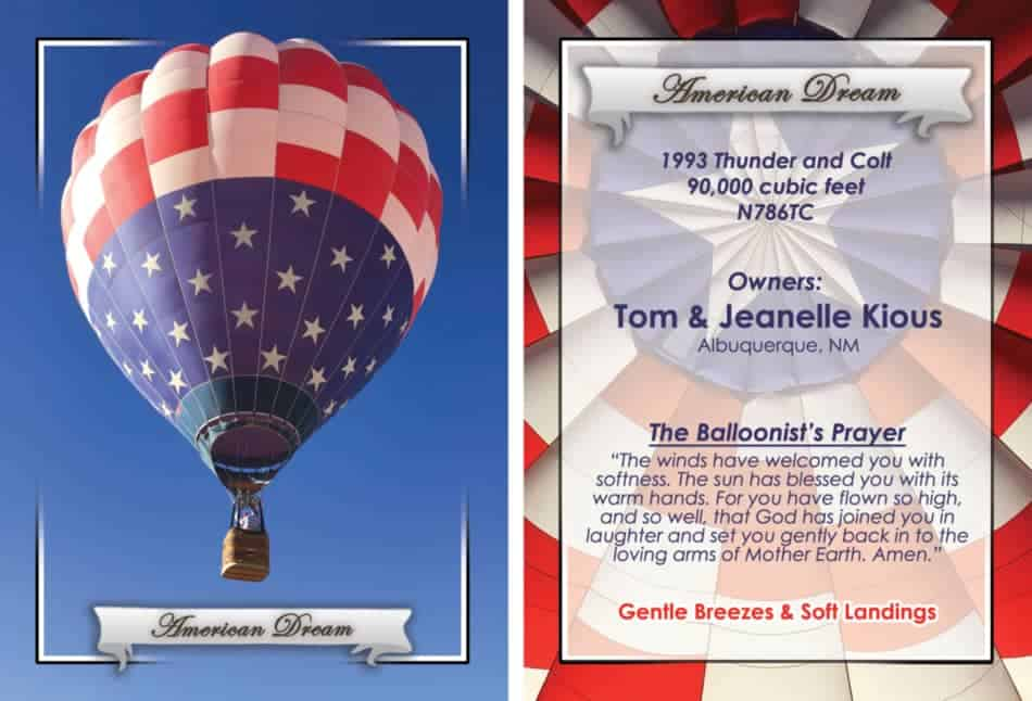 Hot Air Balloon cards, Collectors item.