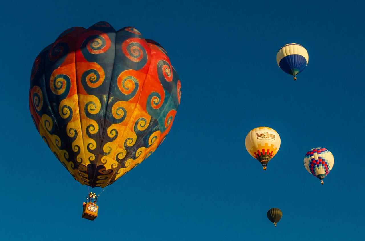 Amazing Hot Air Balloons! At Albuquerque Balloon Festival.