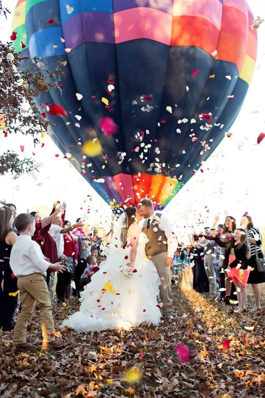 Marriage Ceremony with a hot air balloon ride!