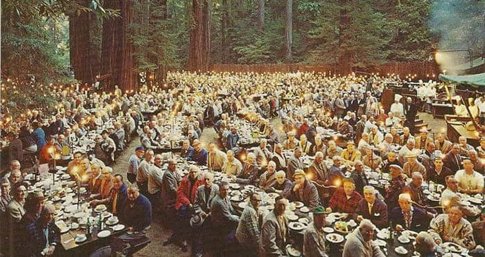 Dinner At the Bohemian grove Secret Clubs