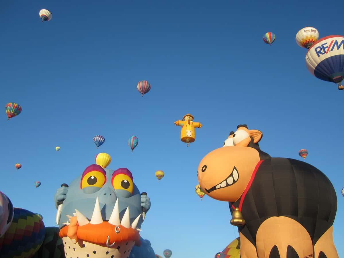 Cartoon Hot Air Balloons at Albuquerque Balloon Festival, New Mexico, U.S.A