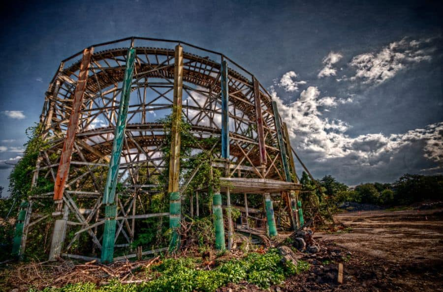 Abandoned Comet Rollercoaster at Lincoln Amusement