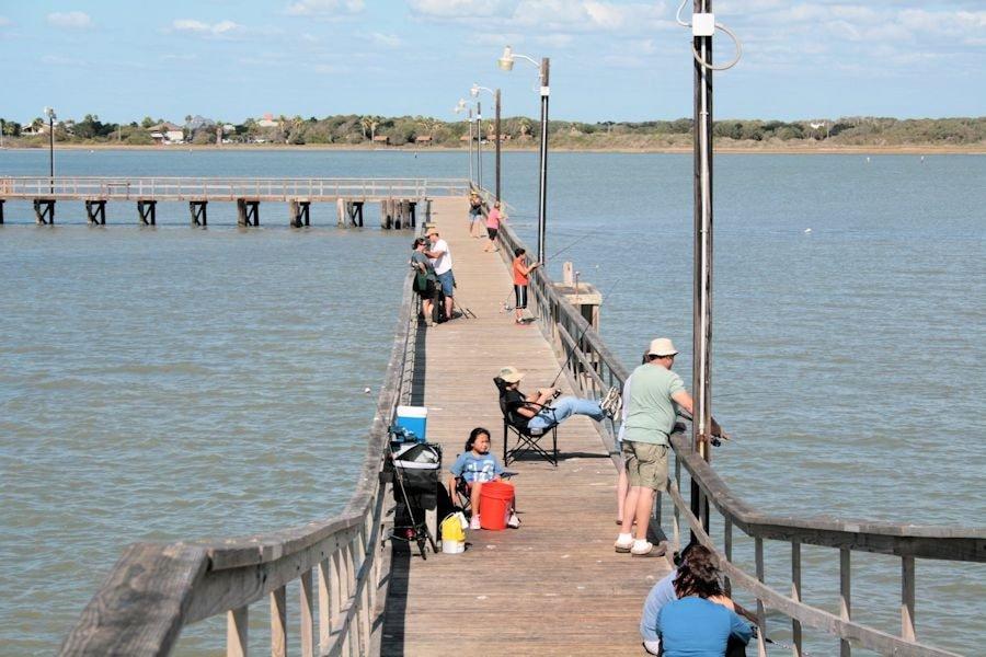 Crabbing in Goose Island, Texas