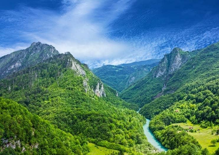 Packrafting in Montenegro, Tara river canyon