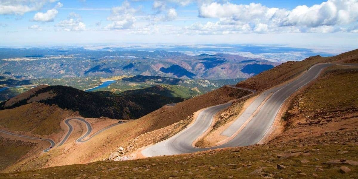 Best Motorcycle Road Trip in America- Pikes Peak Highway, Colorado. Best U.S Driving roads.