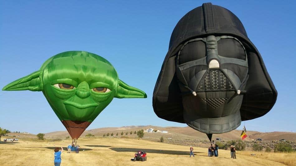 Darth Vader Hot Air Balloon at at Albuquerque Balloon Festival, New Mexico, U.S.A