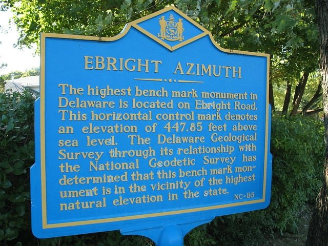 Ebright Azimuth, Highest Point in Delaware, U.S.A