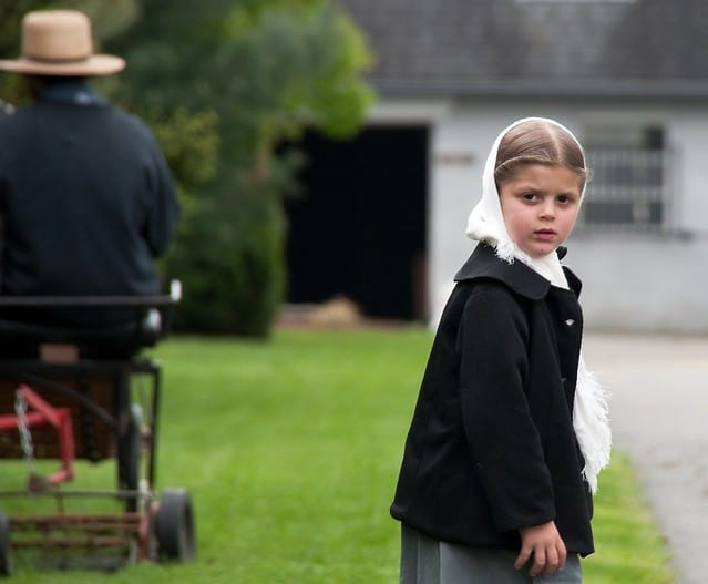 Young Amish Girl.