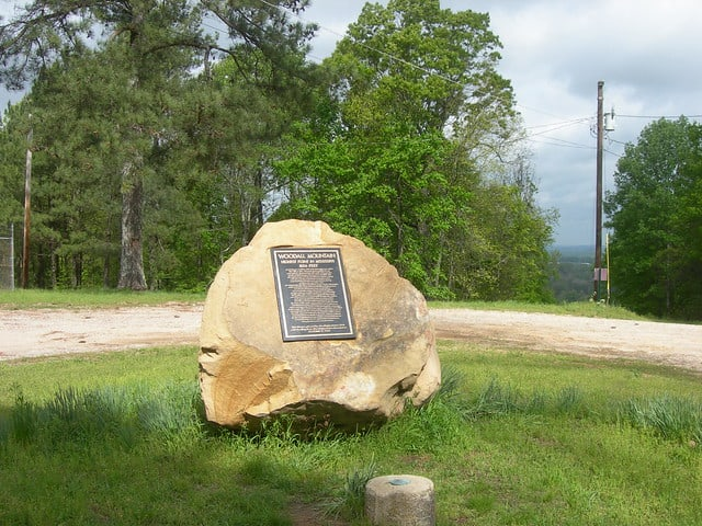 Woodall Mountain Monument Highest Point in Mississippi