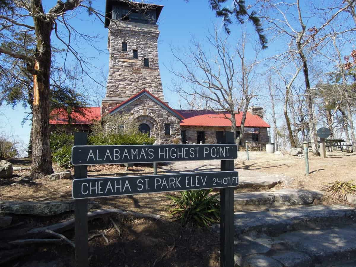 Highest Point in Alabama, U.S.A Cheaha Mountain