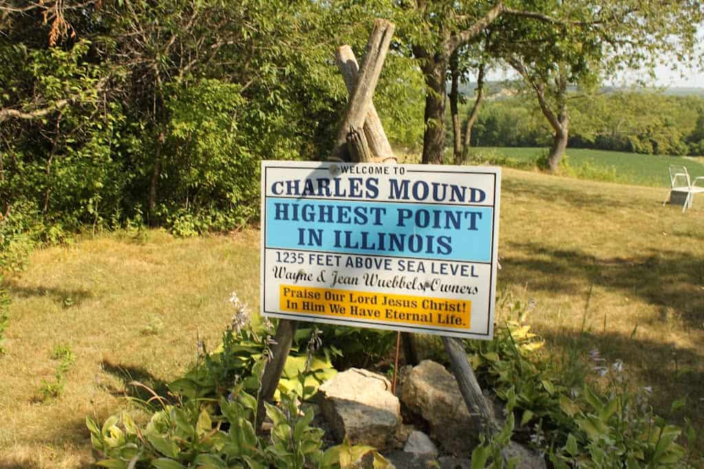 Charles Mound, Highest Point in Illinois