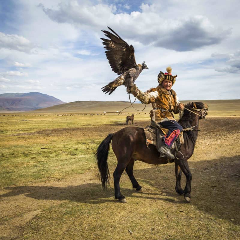 Eagle Hunters at the Altai Mountains, Mongolia.