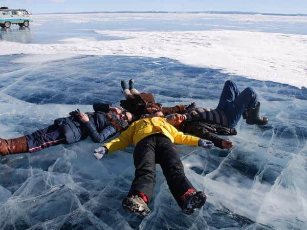 Mongolias Ice Festival at the Frozen Khuvsgul lake