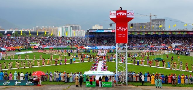 Naadam festival opening ceremony.